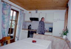 Die Wohnküche der Ferienwohnung