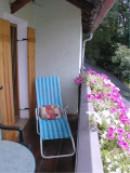 Ruhiger Balkon mit schöner Aussicht